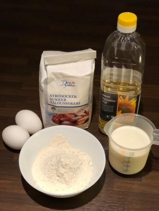 Pancakes ingredients